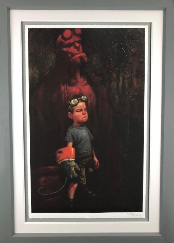 Hell Yeah (Hell Boy) - Framed by Craig Davison