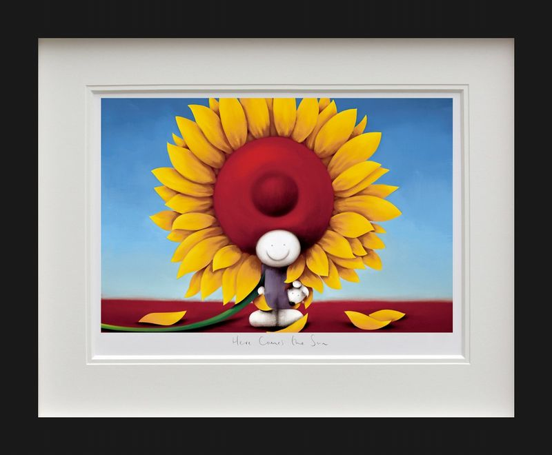 Here Comes The Sun - Black - Framed by Doug Hyde