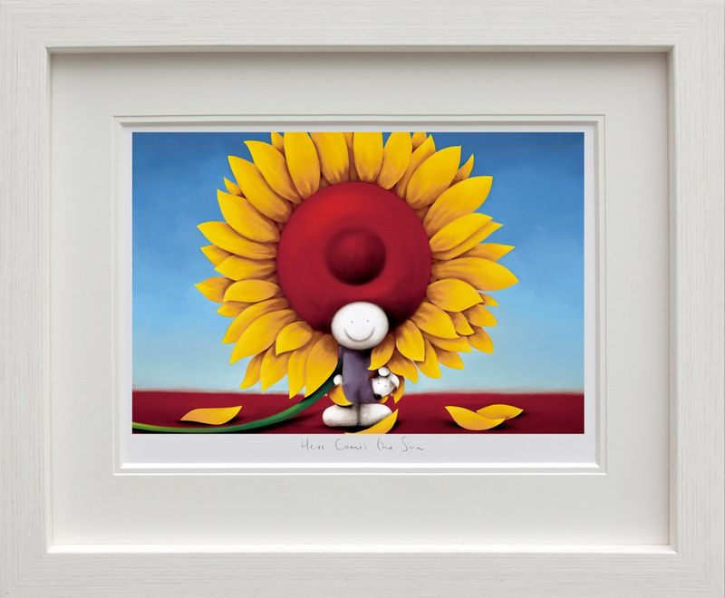 Here Comes The Sun - White - Framed by Doug Hyde
