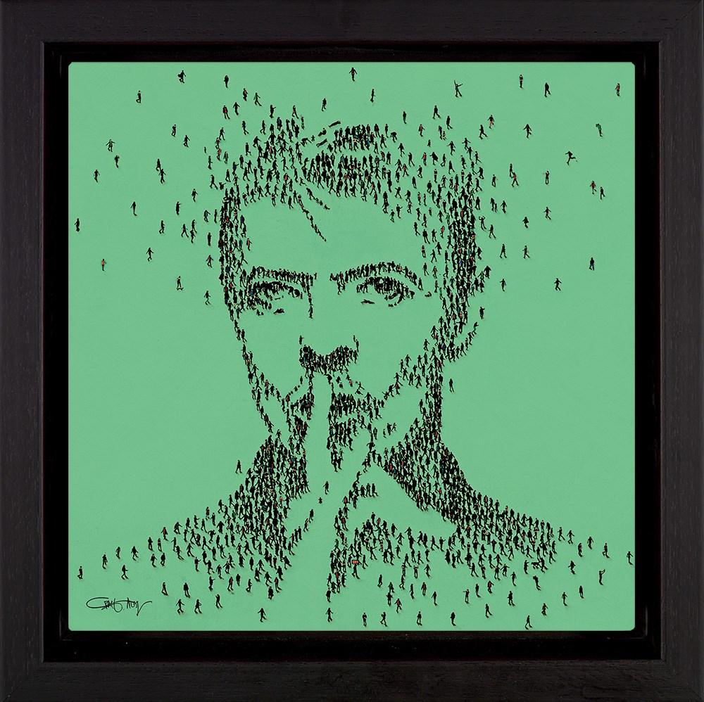 Hero - David Bowie - Framed Box Canvas by Craig Alan