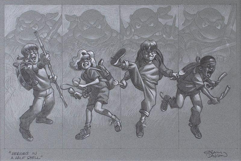 Heroes In A Half Shell - Sketch by Craig Davison