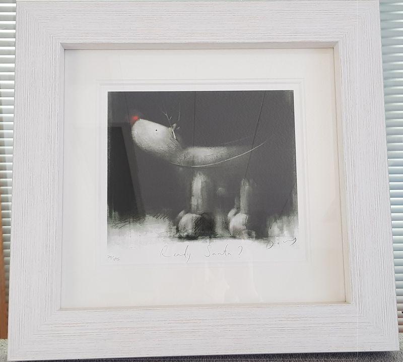Ready Santa! - White Framed by Doug Hyde