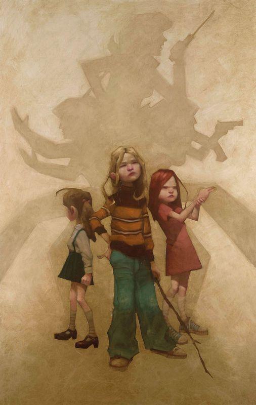 Hi Girls...Hi Charlie - Canvas - With slip by Craig Davison