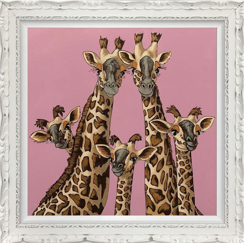 High Five - Rangwali Pink - Framed by Amy Louise