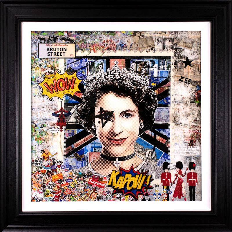 High Society - Resin Deluxe Artist Proof - Framed by Zee