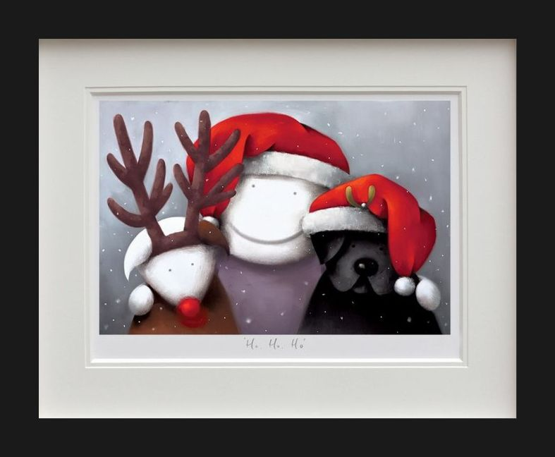 Ho Ho Ho - Black Framed by Doug Hyde