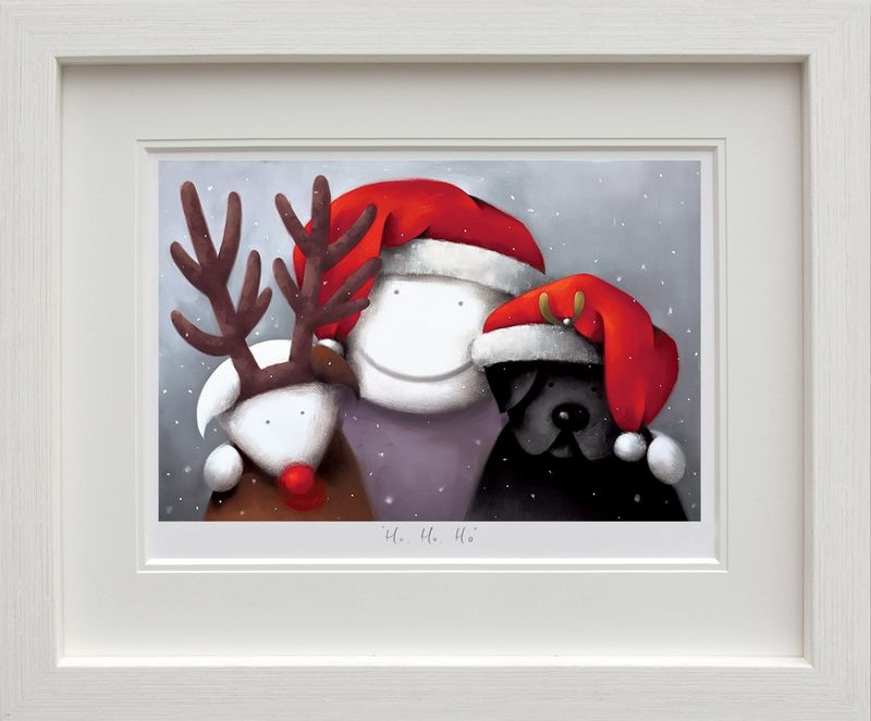 Ho Ho Ho - White Framed by Doug Hyde