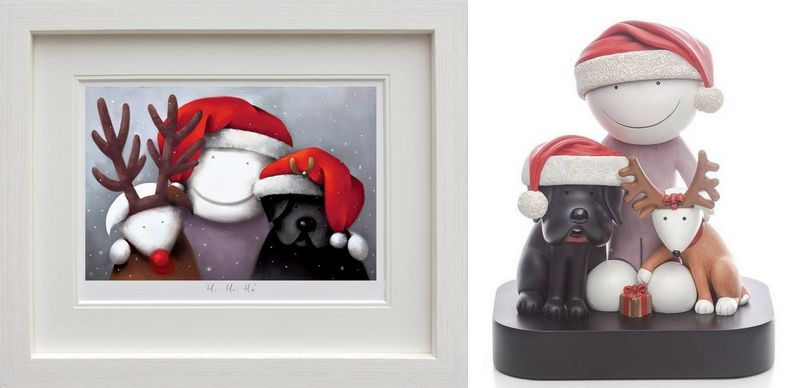 Ho Ho Ho - Picture And Sculpture - Set  by Doug Hyde