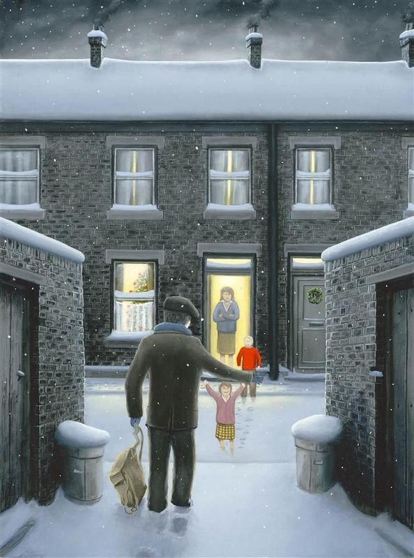 Home For Christmas - Paper - Mounted by Leigh Lambert