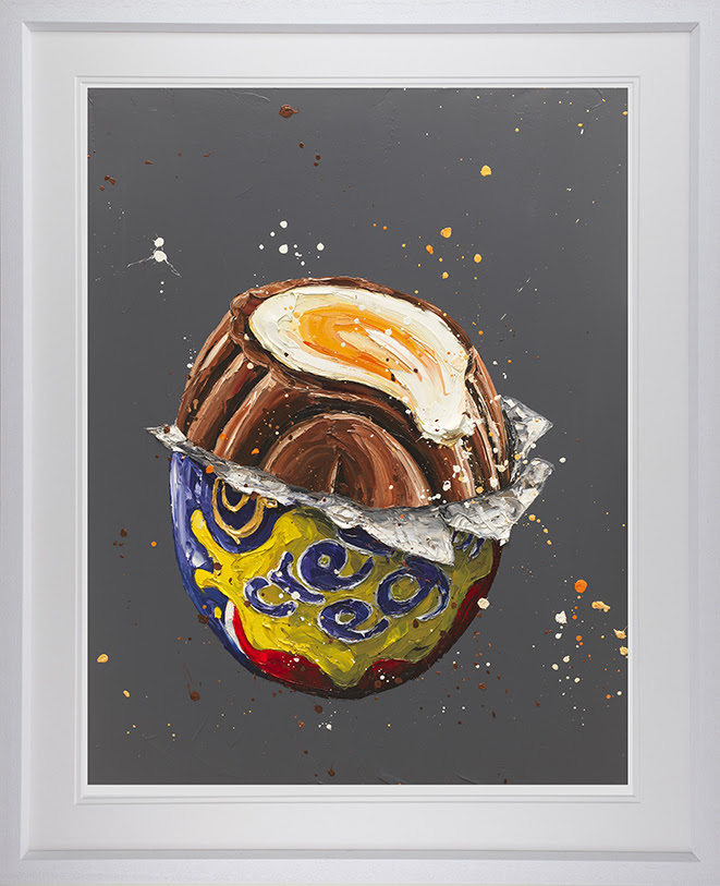 How Do You Eat Yours ? - White - Framed by Paul Oz