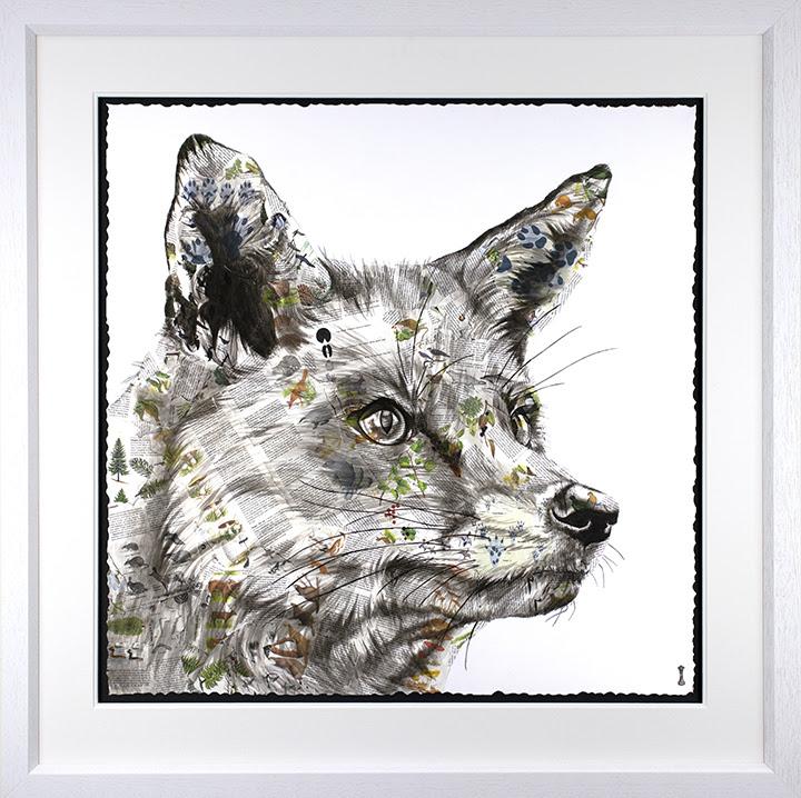 Hunt - Artist Proof - White - Framed by Chess