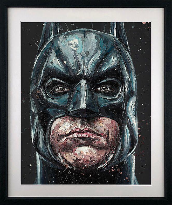 I Am Vengeance (Batman) - Black - Framed by Paul Oz