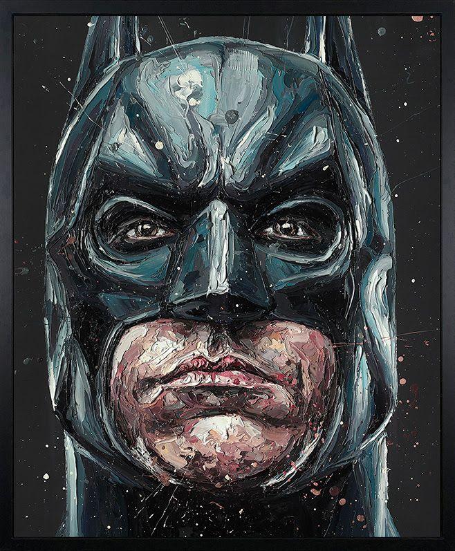 I Am Vengeance (Batman) - Canvas - Black Framed Box Canvas by Paul Oz