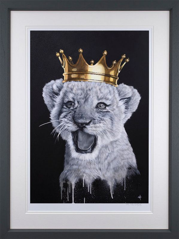 I Just Can't Wait To Be King - Black - Framed by Dean Martin *Mad Artist