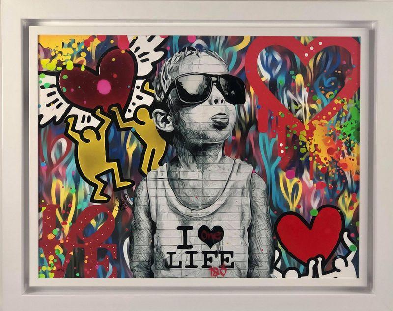 I Love Life - White - Framed by Onelife183