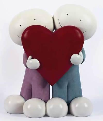 I Love You This Much II - Large Sculpture  by Doug Hyde