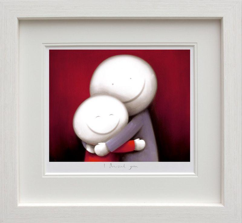 I Missed You - White - Framed by Doug Hyde