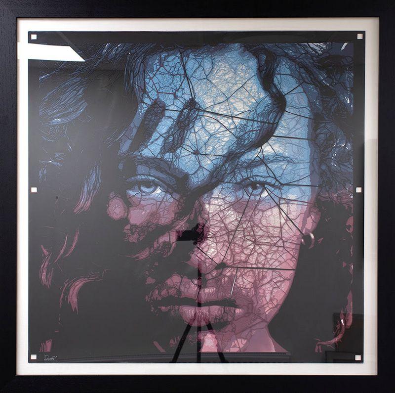 I See Through You - Stencil Original - Black Framed by Zombi *Zombiedan