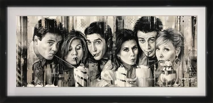 I'll Be There For You - Original - Black Framed by Ben Jeffery