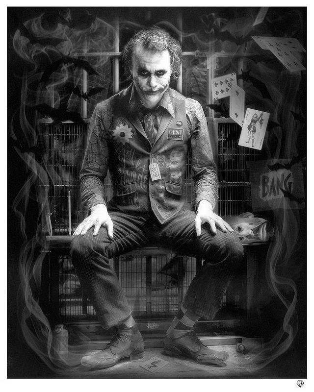 I'm Not A Monster - Black And White - Original - Framed by JJ Adams