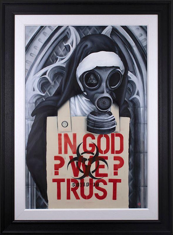 In God We Trust - Artist Proof - Framed by Dean Martin *Mad Artist