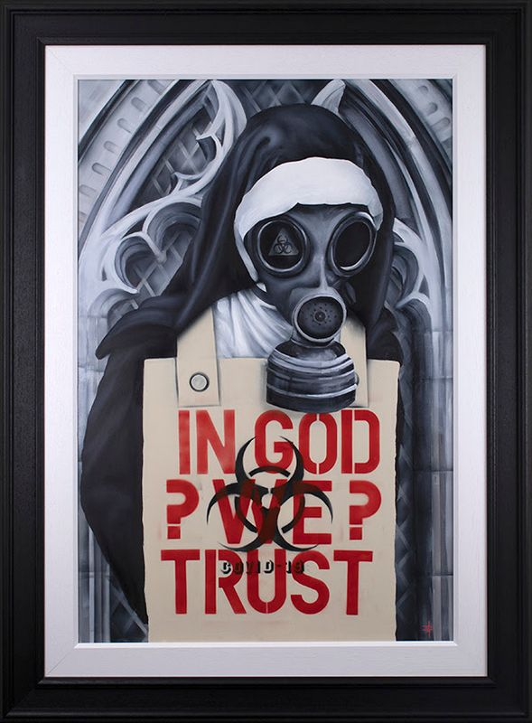 In God We Trust  - Framed by Dean Martin *Mad Artist