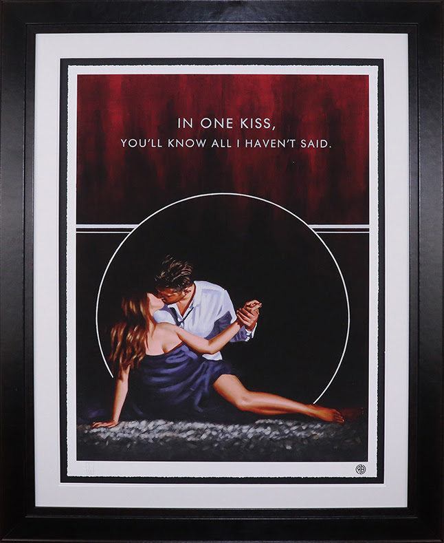 In One Kiss - Paper - Framed by Richard Blunt
