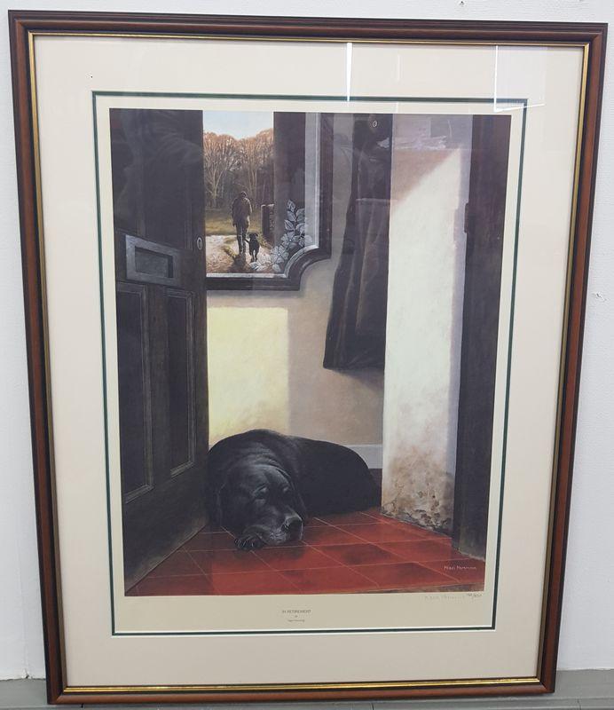 In Retirement - Dark Wood - Framed by Nigel Hemming
