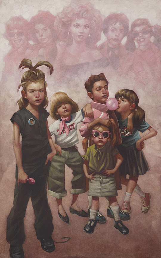 In The Pink (The Pink Ladies Grease) - Canvas - Framed by Craig Davison