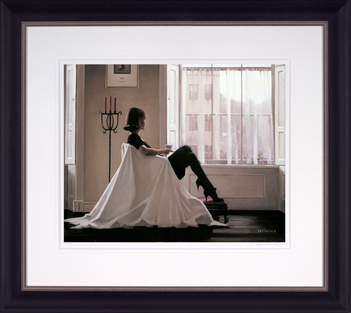 In Thoughts of You (Large) - Framed by Jack Vettriano
