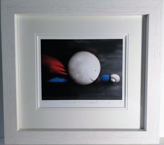 Is It A Bird? Is It A Plane? - Standard Edition - White - Framed by Doug Hyde