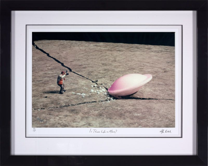 Is There Life On Mars - Framed by Mr Kuu