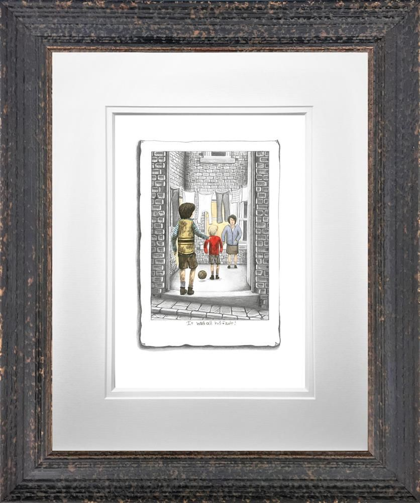 It Was His Fault - Sketch - Framed by Leigh Lambert