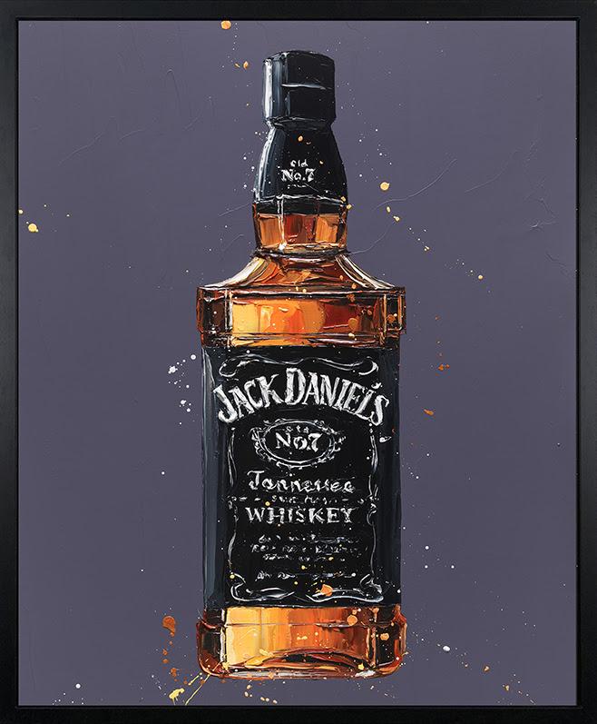 Jack Daniel's - Canvas - Artist Proof Black Framed Box Canvas by Paul Oz
