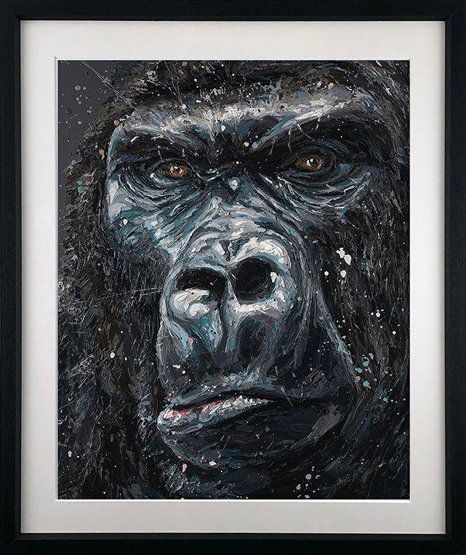 Jock - Black - Framed by Paul Oz