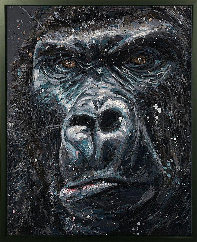 Jock - Canvas - Artist Proof Black Framed Box Canvas by Paul Oz