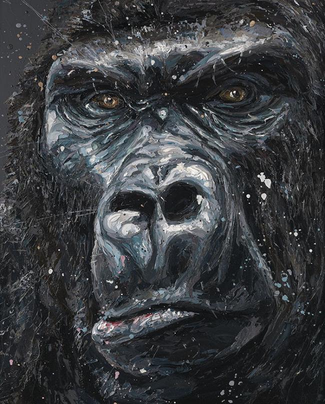 Jock 2014 - Canvas  - Framed by Paul Oz