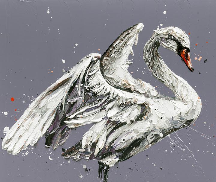 John The Swan - Canvas  - Framed by Paul Oz