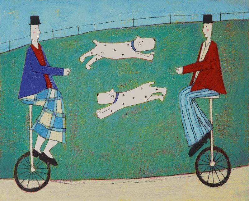 Jumping Dogs by Annora Spence