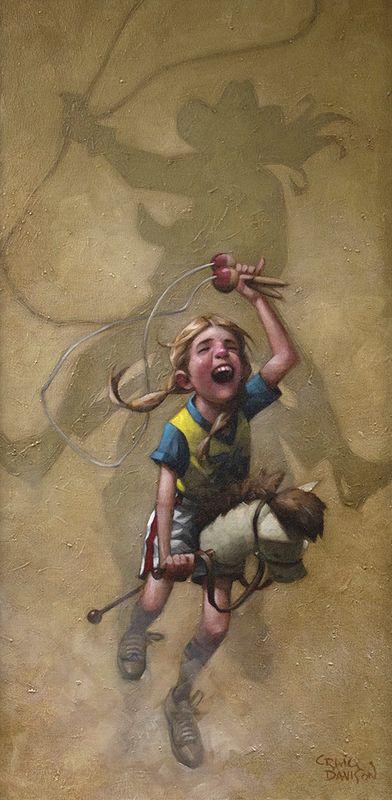 Just Rope, Throw & Brand 'Em - Mounted by Craig Davison