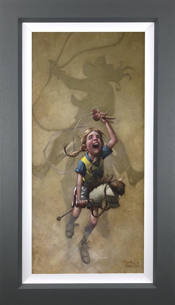 Just Rope, Throw & Brand 'Em - Canvas - Grey - Framed by Craig Davison
