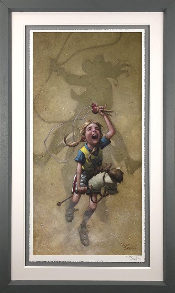 Just Rope, Throw & Brand 'Em - Grey - Framed by Craig Davison