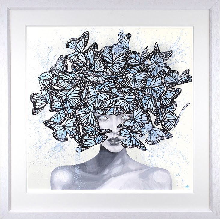 Kaleidoscope Eyes - White - Framed by Dean Martin *Mad Artist