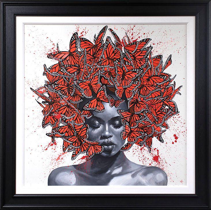 Kaleidoscope - Original - Black - Framed by Dean Martin *Mad Artist