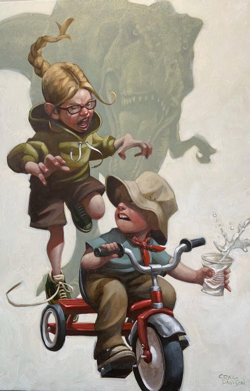 Keep Absolutely Still, Her Vision Is Based On Movement - Artist Proof - Mounted by Craig Davison