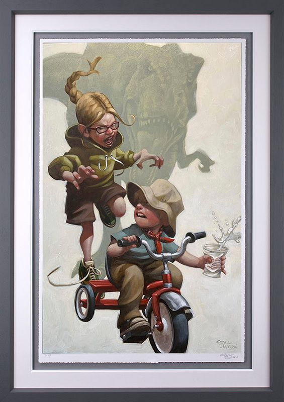 Keep Absolutely Still, Her Vision Is Based On Movement - Artist Proof Grey - Framed by Craig Davison