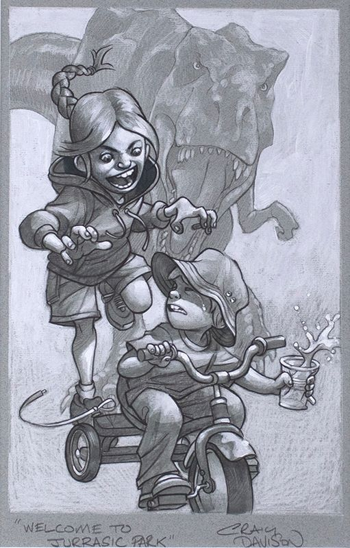 Keep Absolutely Still, Her Vision Is Based On Movement - Sketch - Artist Proof - Mounted by Craig Davison