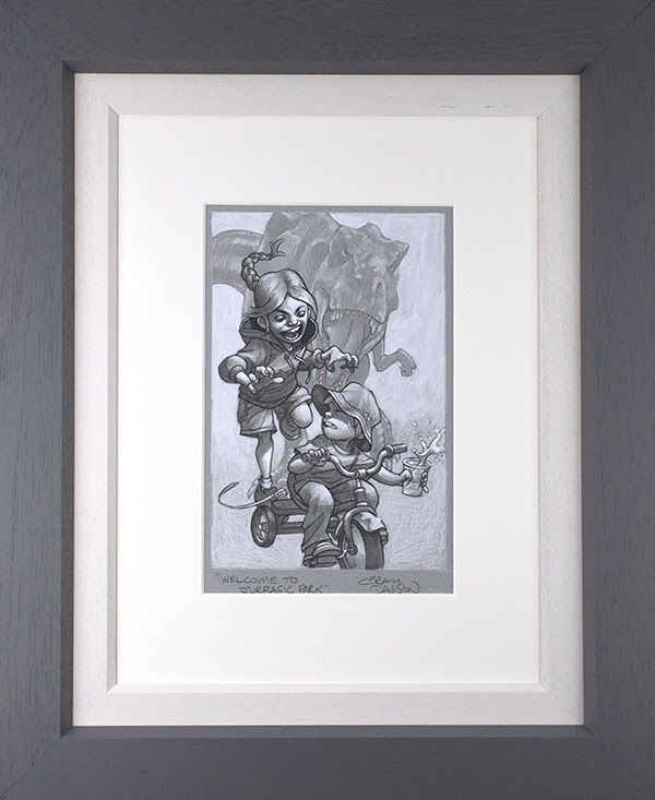 Keep Absolutely Still, Her Vision Is Based On Movement - Sketch - Grey - Framed by Craig Davison