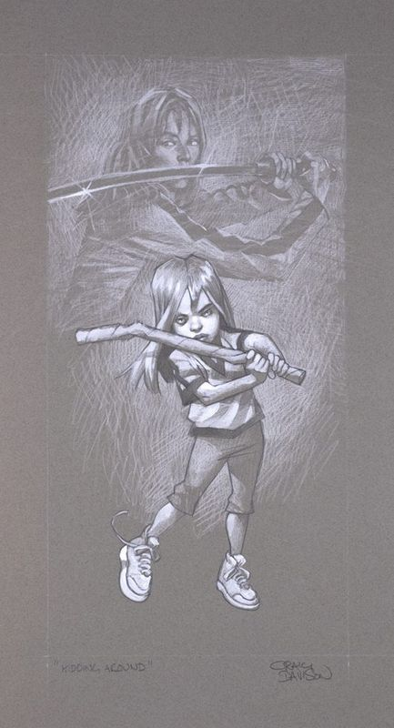 Kidding Around - Sketch - Mounted by Craig Davison