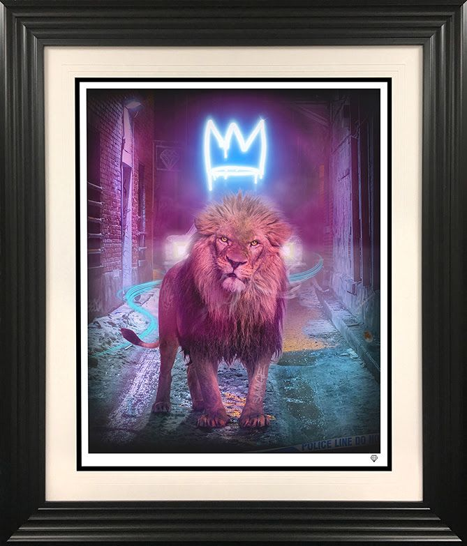 King Of The Urban Jungle - Blue - Black - Framed by JJ Adams